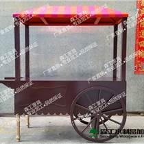 實木售貨車商業區公園展覽器材實木手推售貨車