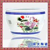 景德镇青花大缸陶瓷鱼缸