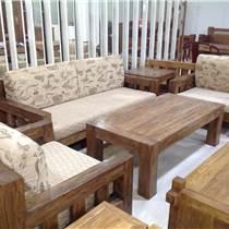 嘉實木家具  榆木實木沙發
