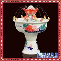 中式風水輪陶瓷魚缸流水噴泉擺件客廳家居桌面家用招財創意加濕器