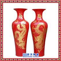 彩繪擺件花瓶 高檔陶瓷花瓶 時尚精美花瓶
