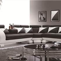 客廳轉角沙發 客廳真皮沙發 現代客廳家具 億思