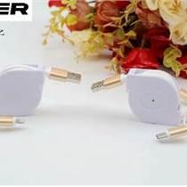 廠家直銷新款伸縮數據線三合一USB蘋果華為三星安卓手機通用