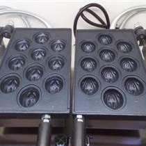 單板電熱核桃酥機|二板翻轉核桃糕機|韓國電熱核桃餅機|商用核桃華夫餅機