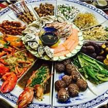 中式健康海鮮盤 青花瓷海鮮盤 新品陶瓷海鮮盤