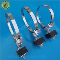 ADSS桿用引下線夾不銹鋼鋼帶引下線夾光纜金具利特萊廠家直銷 品質保證