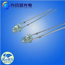 超高亮度3mm平頭無邊LED白發白發光二極管
