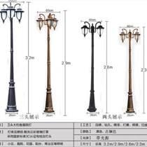 江蘇弘光照明銷售新款歐式雙頭高桿庭院燈壓鑄鋁小區別墅
