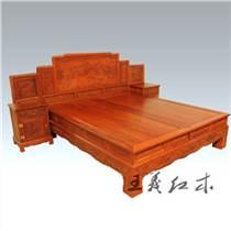 淄博廠家定制緬甸花梨雙人床  羅漢床 貴妃床 臥室大床
