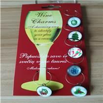 圣誕節玻璃酒杯環 波爾圖酒杯酒杯環