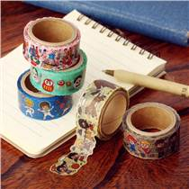 日本和纸胶带 原创和风水彩手账胶带 相册日记装饰diy彩色胶带