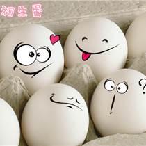 木幾新鮮蘆花初生雞蛋30枚生態農場散養柴雞蛋土雞蛋初產蛋無公害產品 初產營養 六無安全 當天現產