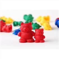未来玩具先生 亲子互动益智系列玩具卡通计数小熊泰迪熊塑胶积木