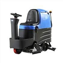 油漆地面清洗用什么洗地机,容恩驾驶式洗扫一体机