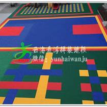 贵州悬浮拼装地板厂家批发 价格实惠 云南湖南广西幼儿园篮球场专用-