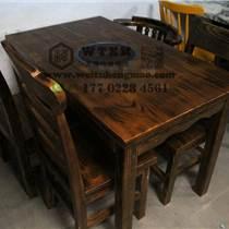 天津定做實木桌椅 實木火鍋桌子 火鍋店實木桌椅