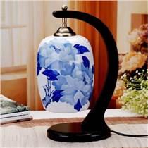 景德鎮供應陶瓷燈具中式古典溫馨裝飾臺燈臥室床頭結婚創意燈飾