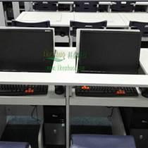 科桌K146翻转电脑桌 双人多媒体电教室电脑桌