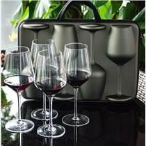 芯銳暢享套裝四只無鉛水晶紅酒杯家用葡萄酒杯高腳杯創意外帶酒杯