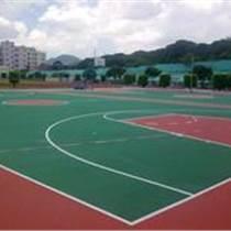 石景山硅PU篮球场施工建设