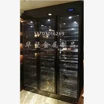不銹鋼酒柜精工定做鏡面玫瑰金鈦金電鍍酒柜酒架不銹鋼恒溫酒柜
