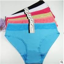云夢妮外貿女士內褲 全棉蕾絲邊女式三角褲 速賣通貨源內褲批發