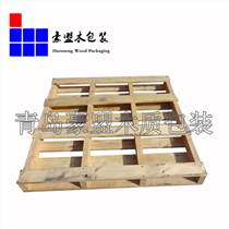 黃島實木托盤廠家定制出口熏蒸松木托盤四面進叉