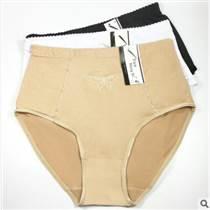 云夢妮時尚大碼女士內褲中年婦女三角褲外貿庫存牛奶絲女式媽咪褲