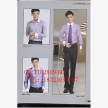 男式工作服長袖襯衫,白襯衫,銷售員襯衫