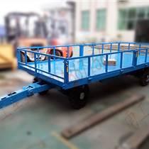 帶板簧減震5T平板拖車