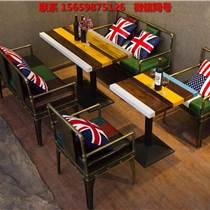 上海凱隆美式餐廳桌椅沙發廠家優勢咖啡廳實木桌椅定做