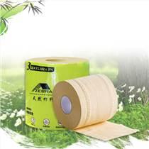 斑马邦竹纤维本色纸不漂白本色纸竹纤维卷纸3层卫生纸家用实心卷纸 整箱装24卷