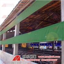 户外篷房通风管帆布-绿色印花台皮-佛山帆布厂