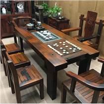船木茶台茶几批发老船木茶桌椅组合
