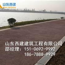 山西朔州膠粘石地坪生態透水路面彩色膠筑彩石藝術圖案公園碎石