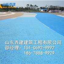 徐州新型防滲水高透水原材料 海綿城市透水混凝土 彩色路面