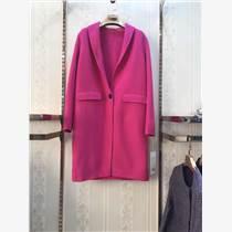 一手貨源第二批雙面羊絨大衣休閑大碼品牌折扣女裝批發