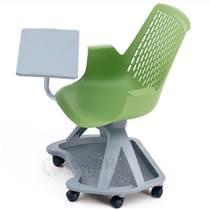 广东带转盘带写字板塑料培训椅厂家