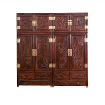 红木电视柜黑酸枝木雕花印尼黑酸枝客厅地柜影视柜