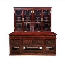 印尼黑酸枝紅木家具辦公書桌椅書柜闊葉黃檀中式實木