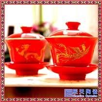 茶碗 盖碗茶具汝窑茶具三才碗 汝窑盖碗 茶杯怡心介杯