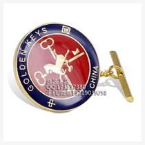 成套金屬徽章、LOGO酒店高檔員工胸針、領章