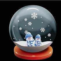 千塑雪球  精美玻璃球制作 家居收藏品摆饰