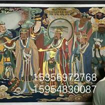 手繪各種佛道壁畫寺廟背景墻壁畫和中醫秘方痛風斷根湯