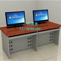 广州博奥BRZE-2Z钢木双人位显示器可升降电脑桌