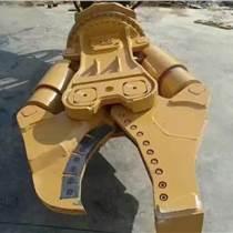360度旋转式鹰嘴式粉碎钳45吨挖掘机上用