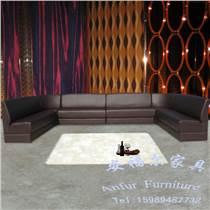現代風格U形L形弧形異形卡拉ok布藝轉角沙發