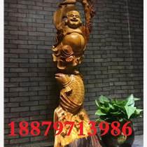 崖柏彌勒佛根雕木質根雕工藝品擺件