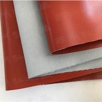 上海耐高溫單面紅色硅膠布