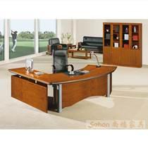 實木辦公桌老板桌訂制重慶辦公家具屏風隔斷